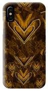 Yellow Pop Art Hearts IPhone Case