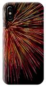 Yellow Red Firework Explosion IPhone Case