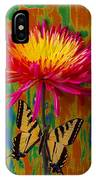 Yellow Red Mum With Yellow Black Butterfly IPhone Case
