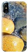 Yellow Rocks At Lake Shore IPhone Case