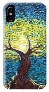 Yellow Squiggle Tree IPhone Case