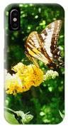 Yellow Swallowtail On Yellow Lantana IPhone Case