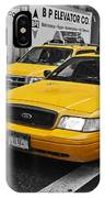 Yellow Taxi Color Pop IPhone Case