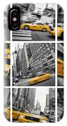 Yellow Taxis Collage IPhone Case