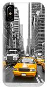 Yellow Taxis In New York City - Usa IPhone Case
