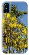 Yellow Wisteria Blooms IPhone Case
