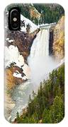 Yellowstone Falls In Spring Time IPhone Case