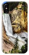 Yellowstone Lower Falls Rainbow IPhone Case