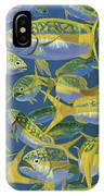 Yellowtail Frenzy In0023 IPhone Case