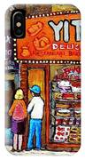 Yitzs Deli Toronto Restaurants Cafe Scenes Paintings Of Toronto Landmark City Scenes Carole Spandau  IPhone Case