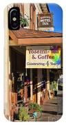 Yosemi Tea Coffee Shop Mariposa California  6935 IPhone Case