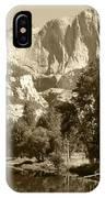 Yosemite Falls Sepia IPhone Case