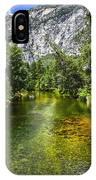 Yosemite Merced River Rafting IPhone Case