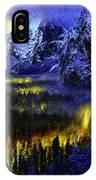 Yosemite Valley At Night IPhone Case