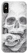 You Are What You Eat Skull Drawing IPhone Case