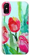 You Enlighten Me- Painting Of Tulips IPhone Case