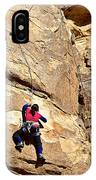 Young Climber In Joshua Tree Np-ca- IPhone Case