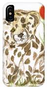 Young Cub Leopard IPhone Case