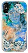 young lady in Papeete IPhone Case