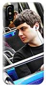 Young Men On The M4 Bus IPhone Case