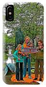 Young Musicians On Orange Day By A Canal In Enkhuizen-netherland IPhone Case