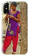 Young Tharu Village Woman In Traditional Nepali Clothing-nepal  IPhone Case