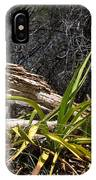 Pedernales Park Texas Yucca By The Dead Tree IPhone Case