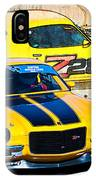 Yellow Z28 Camaro IPhone Case