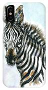 Zebra 1 IPhone Case