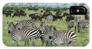 Zebra And Wildebeest Grazing Masai Mara IPhone X Case