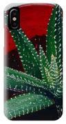 Zebra Cactus In Red Glass IPhone Case