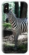 Zebra Forest 2 IPhone Case