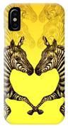 Zebra Heart IPhone Case