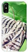Zebra Long-wing Close-up IPhone Case