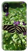Zebra Longwing Butterfly On Flower IPhone Case