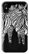 Zebra Love 1 IPhone Case