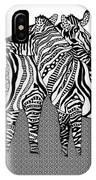 Zebra Love 10 IPhone Case