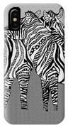 Zebra Love 12 IPhone Case