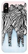 Zebra Love 21 IPhone Case