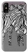 Zebra Love 25 IPhone Case