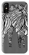 Zebra Love 26 IPhone Case