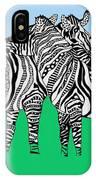 Zebra Love 6 IPhone Case