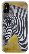 Zebra Portrait IPhone Case