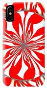 Zebra Red Swirling Kaleidoscope  IPhone Case
