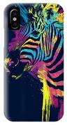 Zebra Splatters IPhone Case