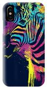 Zebra Splatters IPhone Case