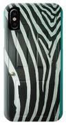 Zebra Stripe Mural - Door Number 1 IPhone Case