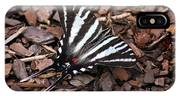 Zebra Swallowtail Butterfly IPhone Case