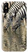 Zebras At Water Hole IPhone Case