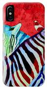 Zebras In Love  IPhone Case